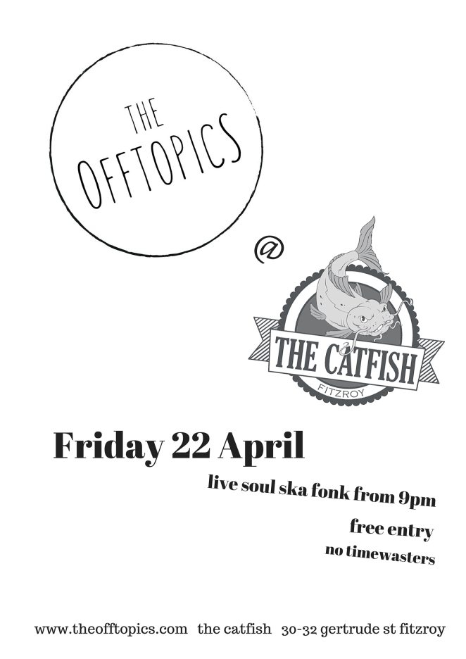 the offtopics ay The Catfish 22 Apr
