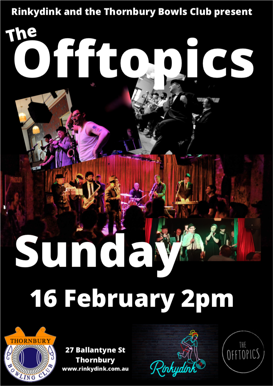 The Offtopics at the Thornbury Bowlo